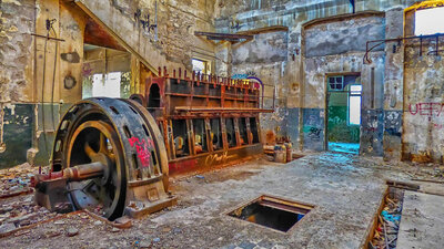 Old Factory's Power Plant-Diesel Generator